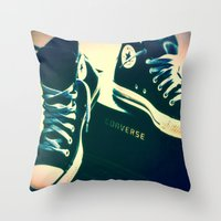 Converse Sneakers Throw Pillow
