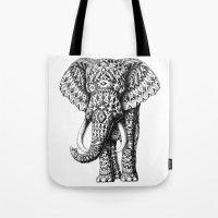 Navajo Elephant Tote Bag