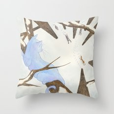 The Cat And The Fox Throw Pillow