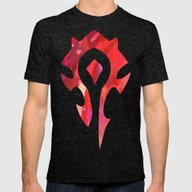World Of Warcraft Horde  Mens Fitted Tee Tri-Black SMALL