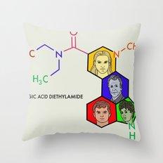 Lysergic Acid Diethylamide Throw Pillow