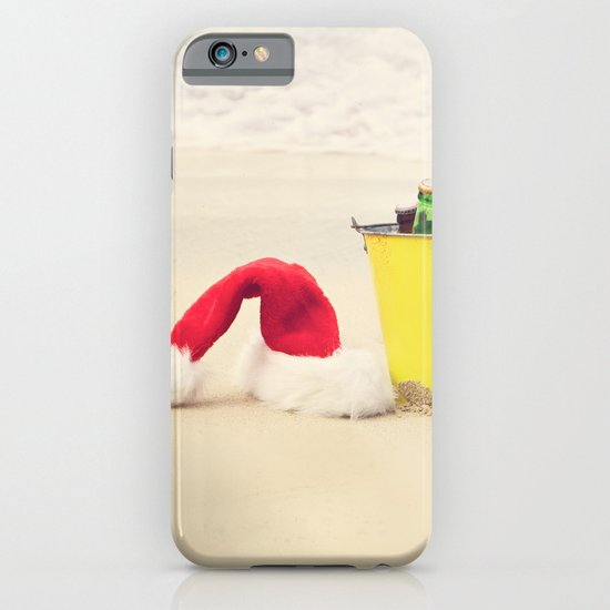 Santa Hat and Beach Beverage iPhone & iPod Case