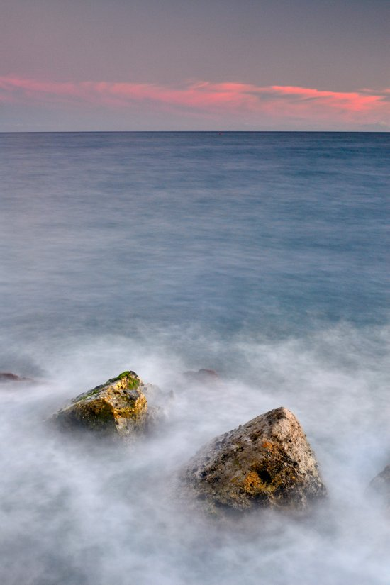 Two stones at sunset Art Print