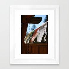 Flags. Framed Art Print