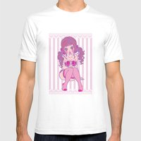 PINK Mens Fitted Tee White SMALL