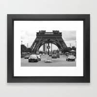 Paris transport Framed Art Print
