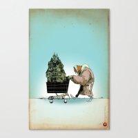 Glue Network Print Serie… Canvas Print