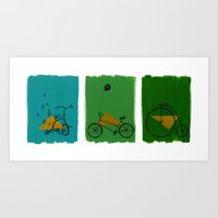 confidant. (tricycle, bicycle, penny-farthing) Art Print