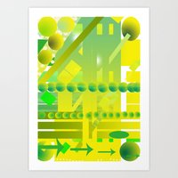 geometric forms Art Print