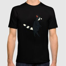 Racсoon Origami SMALL Black Mens Fitted Tee