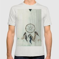 Dream Catcher Reservations Mens Fitted Tee Silver SMALL