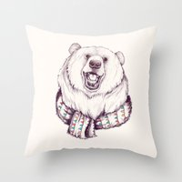 Bear & Scarf Throw Pillow