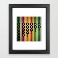 door beads Framed Art Print