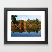 Autumn Reflection Framed Art Print