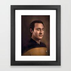 Star Trek: Data Framed Art Print