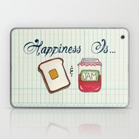 Happiness Is Toast & Jam Laptop & iPad Skin