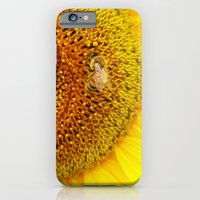 iPhone & iPod Case featuring Bee on a Sunflower by Mendelsign