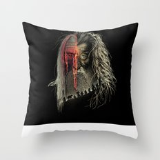 Evil Border Throw Pillow