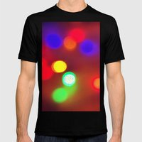Colourful Lights Mens Fitted Tee Black SMALL