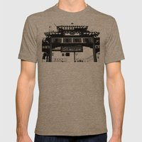 Chinatown Mens Fitted Tee Tri-Coffee SMALL