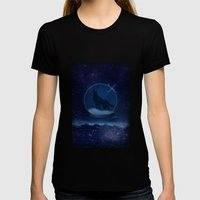 Crystal Ball Womens Fitted Tee Black SMALL