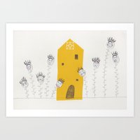 Sunflower House Art Print