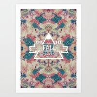 FALL LOVE Art Print