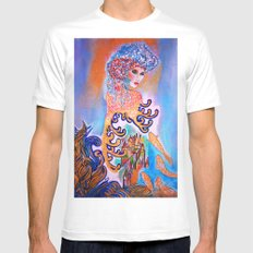 Midnight Sun SMALL Mens Fitted Tee White