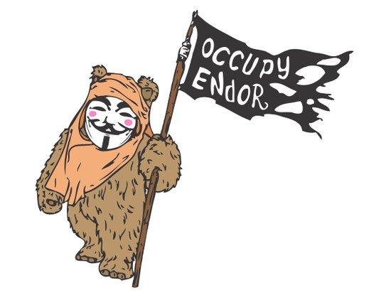 Occupy Endor Art Print