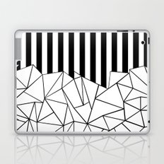 Abstract Outline Stripes Black and White Laptop & iPad Skin