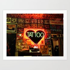 Tattooed Art Print