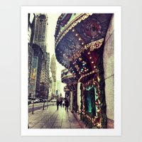 Christmas On 5th Avenue Art Print