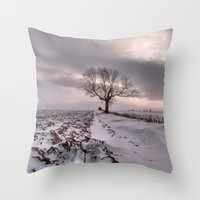 Cold and Lonely Throw Pillow