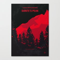 No682 My Dantes Peak minimal movie poster Canvas Print