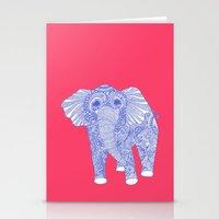 Ornate Ellie In Blue Stationery Cards