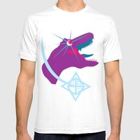 T-Rex Burst Mens Fitted Tee White SMALL