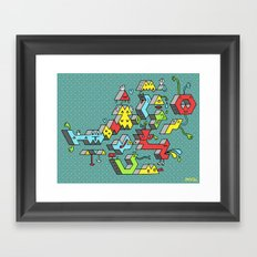 Blockheads Framed Art Print