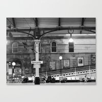 Newcastle Central Station, England.  Canvas Print