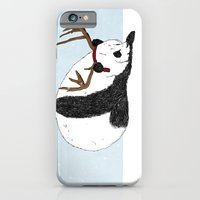 iPhone & iPod Case featuring Festive Panda by James Docherty