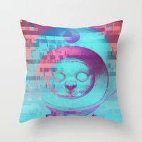 Kitty Of The Rising Sun Throw Pillow