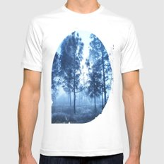 Black Forest White SMALL Mens Fitted Tee