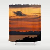 Vivid and Peaceful - Alaska Sunset Shower Curtain
