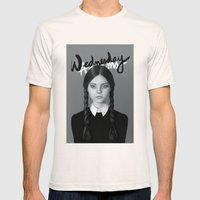 Wednesday Addams Mens Fitted Tee Natural SMALL