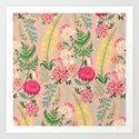Pink Floral 02 Art Print