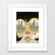 Glasses Framed Art Print