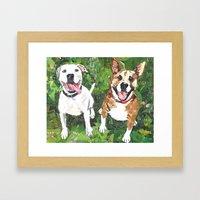 Neko and Diesel Framed Art Print