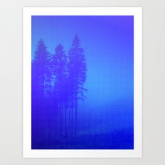 blue and blue Art Print