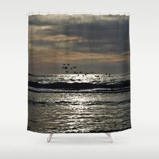 Dark foray over the sparkling Danish Sea Shower Curtain