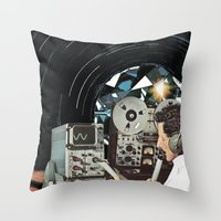 Distorted Thoughts Throw Pillow