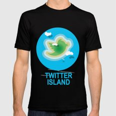 Twitter Island Mens Fitted Tee Black SMALL